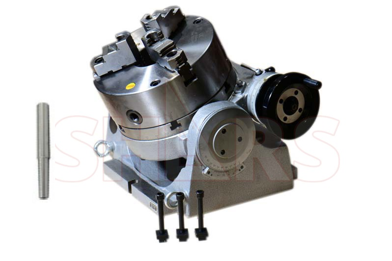 """Table Included The Adapter and 3 Jaw Chuck for Mounting on A 10/"""" Rotary Table"""