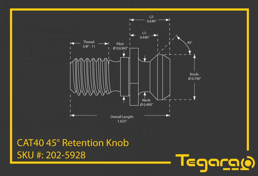 SHARS Pull Stud Retention Knob FITS Mazak Fadal Okuma CAT40 CNC New 37.11/% Off