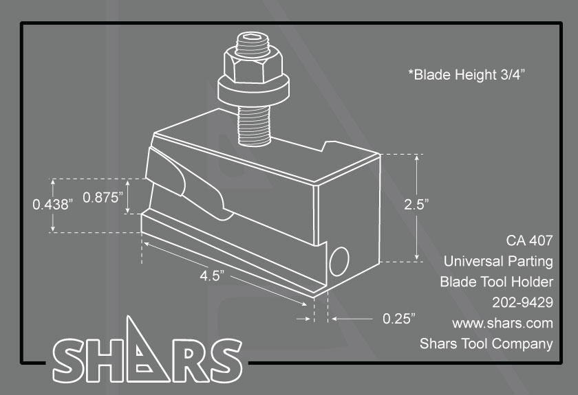 SHARS 7//8 Retrofit GTN Cut-Off and Grooving Blade CA 202-9580 P