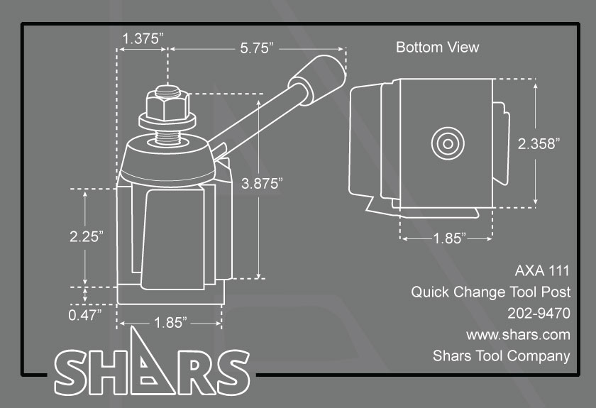 SHARS 10-15 BXA Quick Change Post Universal Parting Blade Tool Holder #7 250-207 New 202-9427 P