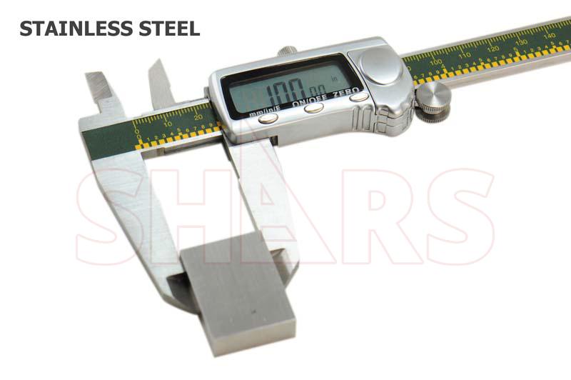 "SHARS 8/"" 200mm Electronic Digital Caliper Stainless .0005"" FRACTION 1//128 New"