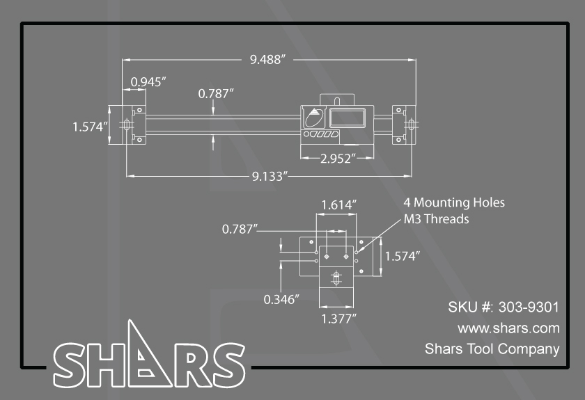 """SHARS 4/"""" HORZ Digital DRO Quill Large LCD Scale Mill Lathe for Bridgeport New"""
