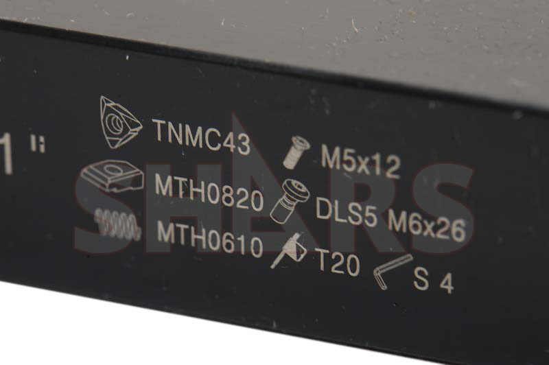 "SHARS 3//4/"" LH MTVO Tri-Lock Tool Holder Use TNMC-NV TNMC-NG TPMC-NV Inserts New"