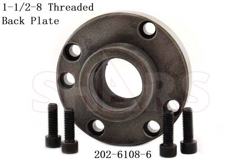 """8/"""" Fully Machined Threaded Back Plate 2-1//4-8 TPI For 4 Jaw Independent Chuck"""