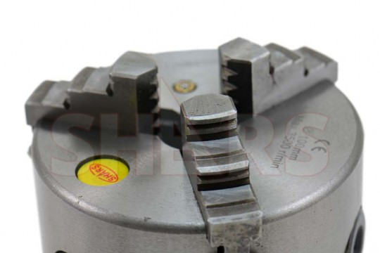 Shars 4 Inch 3 Jaw Self-Centering Scroll Lathe Chuck Solid Jaws with Semi Machined 1-8 Back Plate 202-5410-202-6106-6