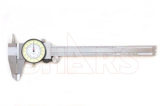6 Inch 64th Fractional Dial Caliper .010 Inch Hardened Stainless Steel