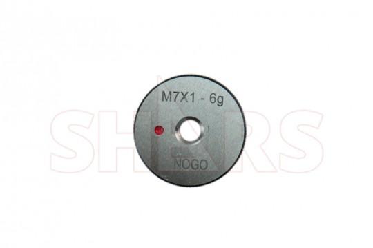 SHARS M7 x 1 GO NO-GO THREAD RING GAGE 2PCS SET NEW