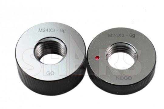 M24x2 6g Metric Thread Ring Gage Gauge Set GO+NOGO NOS