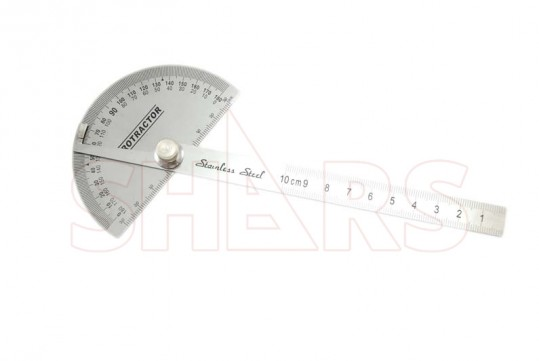 Shars Stainless Steel Depth Gage with Square Head Protractor New