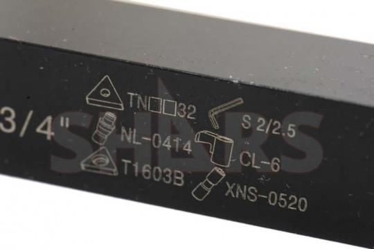 """Shars 3//4/"""" X 4-1//2/"""" RH MTJN TNMG INDEXABLE TRI LOCK TURNING TOOL HOLDER 331 332"""