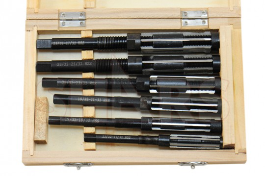 """ADJUSTABLE HAND REAMER 6 PCS SET 15//32/"""" to 27//32/"""" NEW EXPANDING REAMER"""