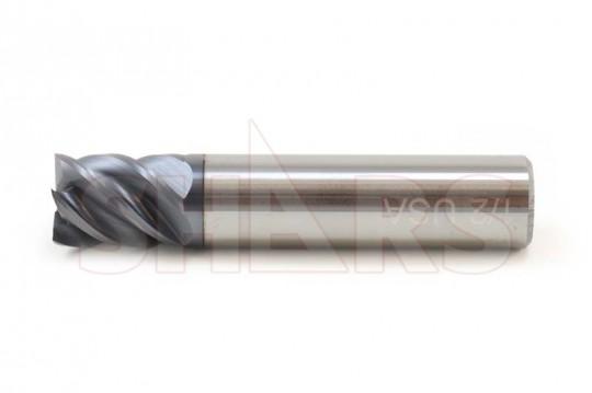 Solid Carbide Aluminium End Mill 45 Degree Helix 3 Flute Endmill Slot Drill