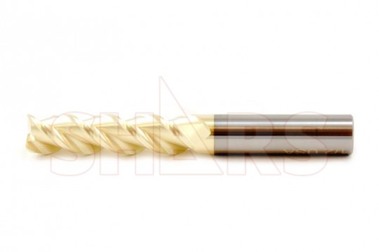 """3//16/"""" 3 Flute Single End 30 Degree Carbide End Mill USA TiCN Coated"""