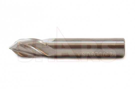 "5//8/"" Diameter 90°Degree Point 2 Flute Cobalt ALTiN 5//8/""Shank Drill End Mill USA"