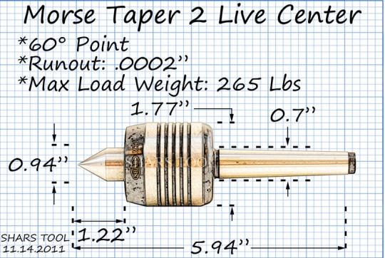 MT2 tailstocks Live Revolving CENTER MT2 NEW LATHE CENTER fit 2 Morse taper