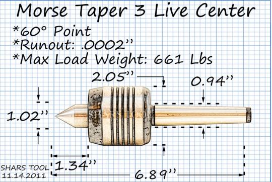 Z LIVE CENTER ZLC06026AMT2 Precision Live Center Morse Taper 2