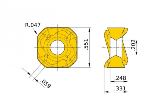 Pack of 10 Parallelogram 85/° Mitsubishi Materials AOMT123616PEER-M MP9120 Coated Carbide Milling Insert Grade MP9120 0.142 Thick 0.063 Corner Radius Round Honing Class M