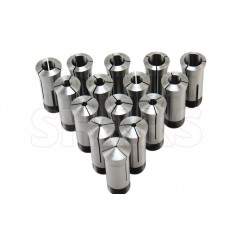 High Precision 5C Round Collet 15 Piece Set