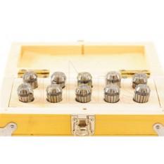 1 - 10mm by 1mm ER16 Collet 10pcs Set