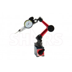 """Mini Magnetic Base with .030"""" .0005 White Face Dial Test Indicator"""