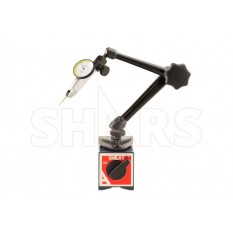 """176 Lbs Standard Magnetic Base with .030"""" .0005 White Face Dial Test Indicator"""