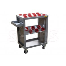 HSK63A Taper CNC TOOL HOLDER STORAGE CART Scooter
