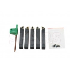 """3/8"""" Indexable Carbide Turning Tool Set"""