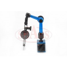 """Mini Universal Magnetic Base with .030"""" .0005 Black Face Dial Test Indicator"""