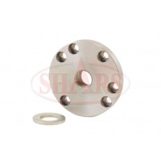 """3.11"""" Fully Machined Threaded Back Plate with 3/4 x 16 TPI for 3 or 4 Jaw Lathe Chucks"""