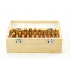 """3/16-3/4"""" Tin Coated 2 and 4 Flute Single End Mill Set"""
