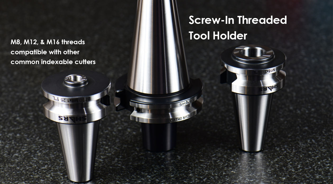 cat40 screw-in threaded tool holder